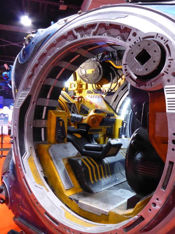 Guardians of the Galaxy spacepod interior detail