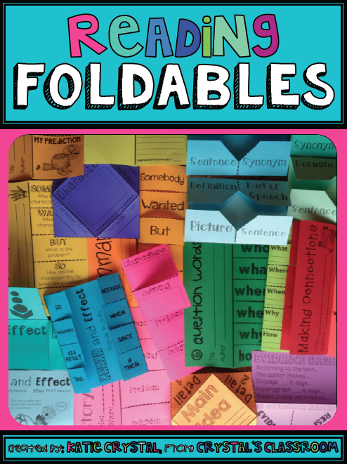 crystal s classroom reading foldables