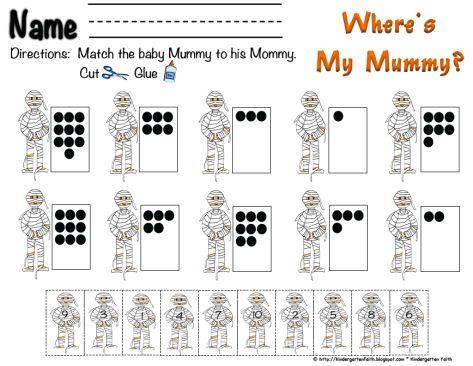 Number Names Worksheets » Matching Numbers 1-10 - Free Printable ...