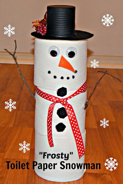 DIY Snowman Cottonelle Toilet Paper