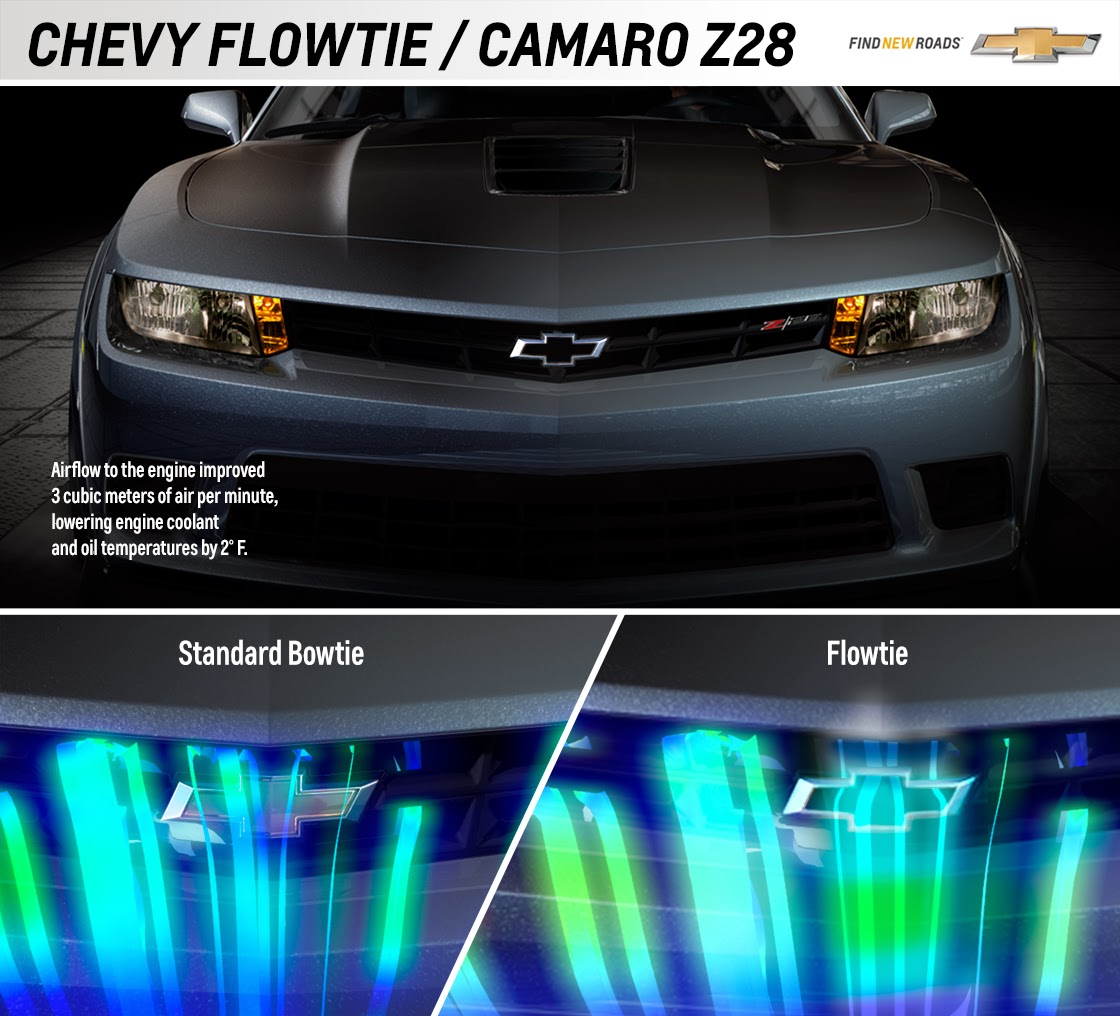 Modified Chevrolet Camaro Z/28 Bowtie: Flowtie