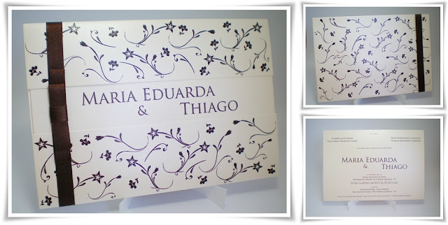 Casamento de Maria Eduarda e Thiago, Modelo Armação especial.