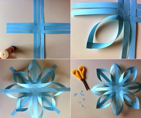 Cómo hacer adornos de papel colgantes ~ Portal de Manualidades