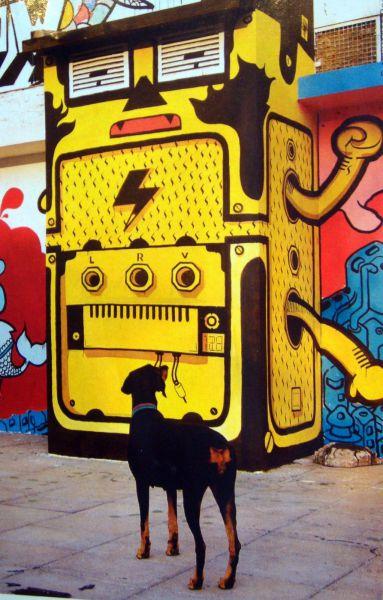 Cachorro e grafite