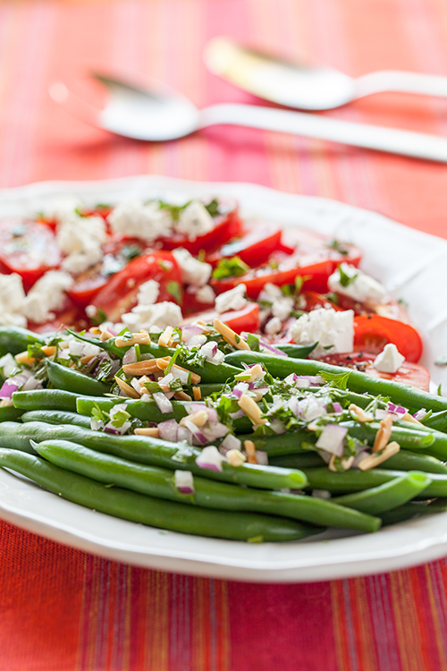Greek Vegetarian: Green Bean, Tomato and Feta Salad