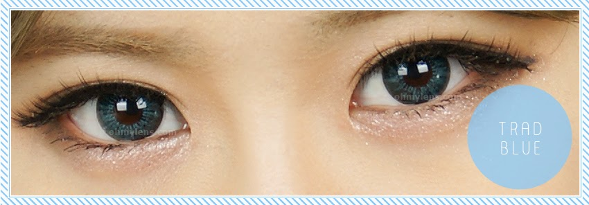 Trad Blue Contact Lenses at ohmylens.com