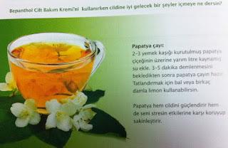 Bepanthol papatya çayı tarifi
