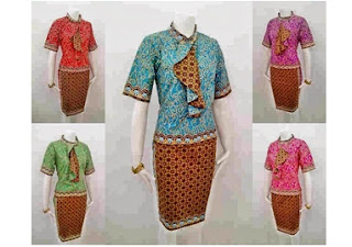 Desain baju batik solo setelan rok model masa kini
