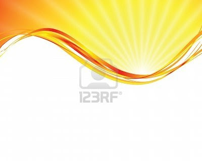 sun on yellow background with orange rays