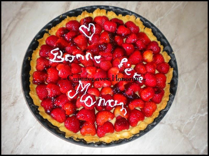 La tarte aux fraises et amandes