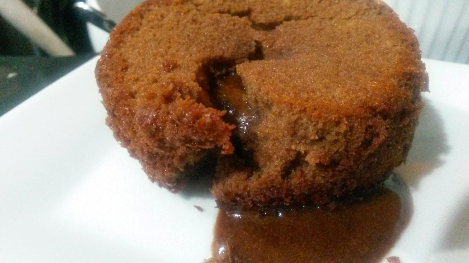 the delightful molten chocolate cake