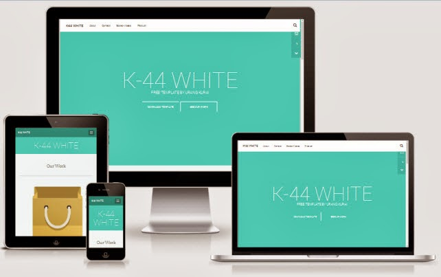 K44 White Responsive Blogger Template