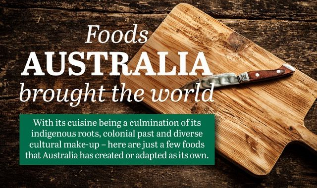 Image: Foods that Australia Brought the World #infographic