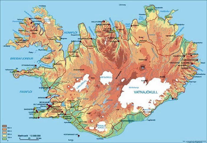 Iceland 24 Iceland Travel and Info Guide – Tourist Map Iceland