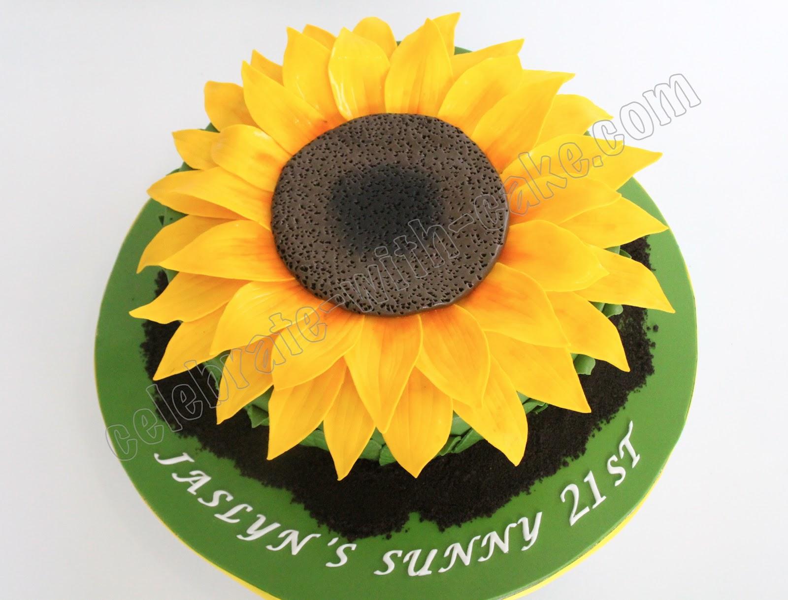 Celebrate with Cake!: Sunflower Cake