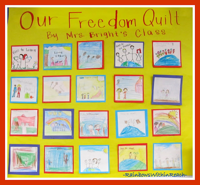 "photo of: ""Our Freedom Quilt"" via RainbowsWithinReach Quilt RoundUP"