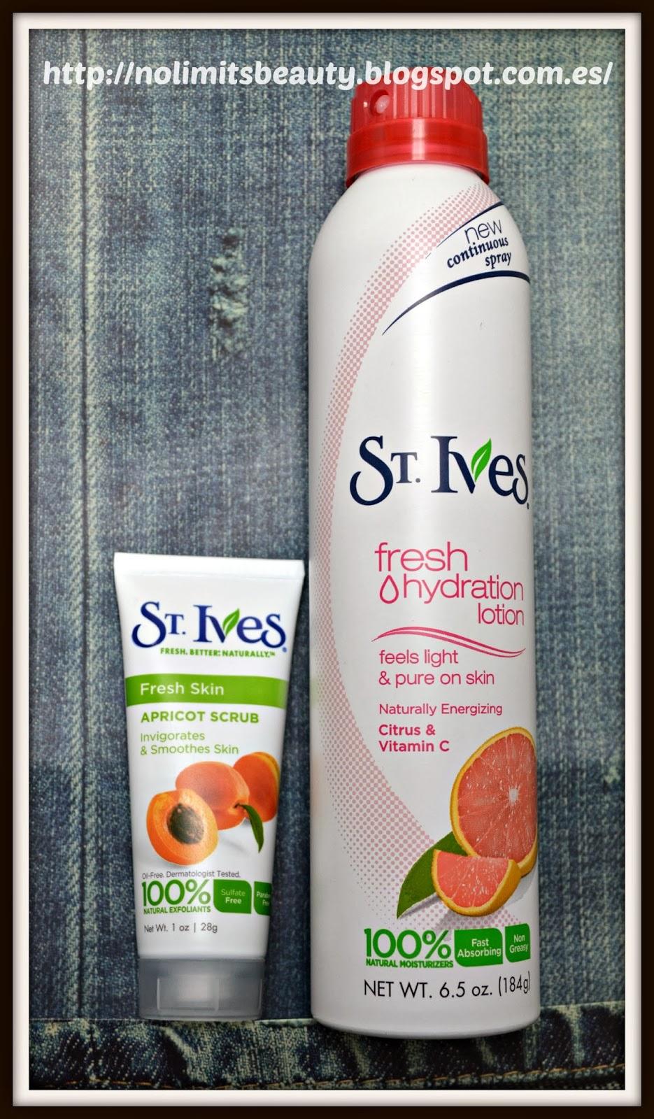 St. Ives: Fresh Hydration Lotion y Apricot Scrub