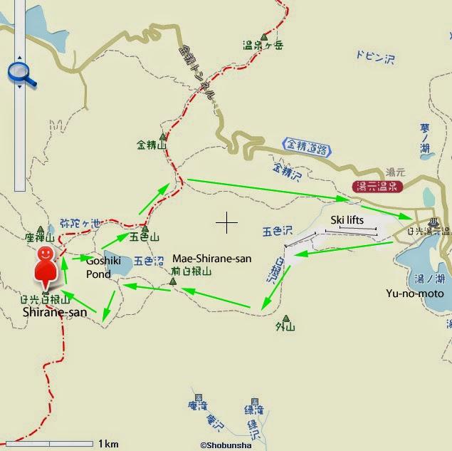 Japan Mountains And Maps How To Climb Nikko Shiranesan Tochigi - Japan map gunma