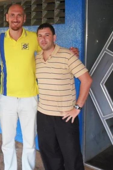 Nalbert  campeão olimpico Athenas  2004 e o Professor Gislei da Silva Pimentel