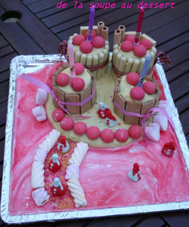 Gateau danniversaire chateau de princesse