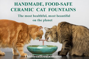 Thirsty Cats Ceramic Fountains