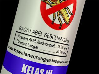 Contoh bahan aktif pada label racun anai-anai