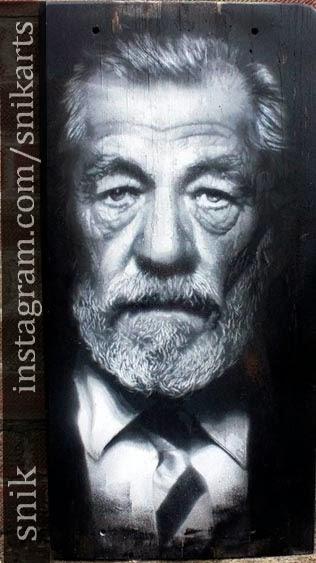 sir ian mckellan portrait