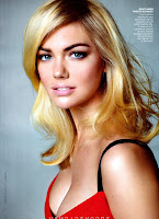 Kate Upton wearing a red bra