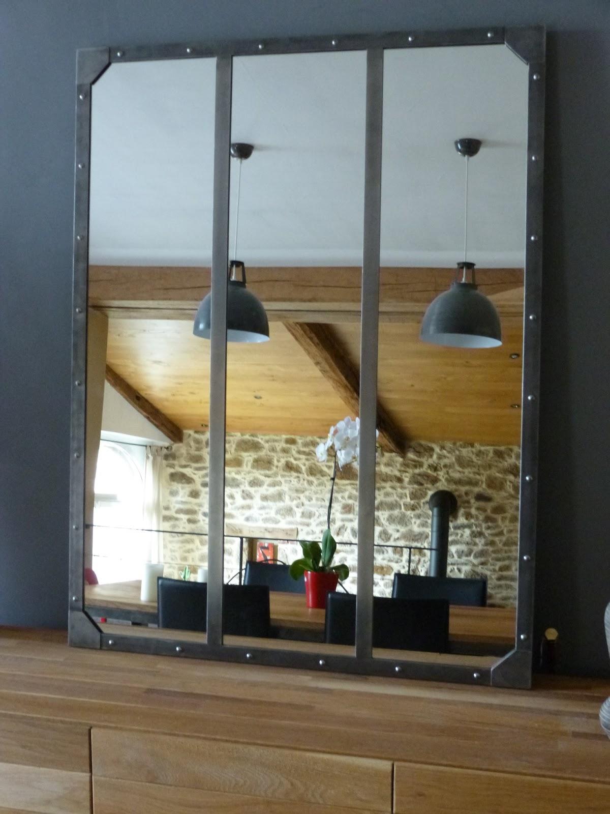 C factory creation miroir acier brosse for Miroir acier