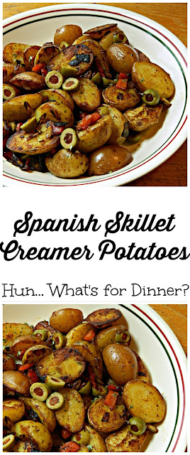 Spanish Skillet Potatoes using Creamer potatoes from The Little Potato Company