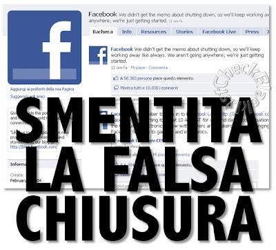 facebook chiude