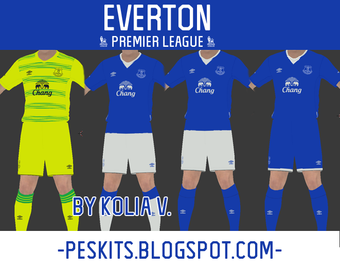 PES 2015 Everton 15/16 Kits by Kolia V