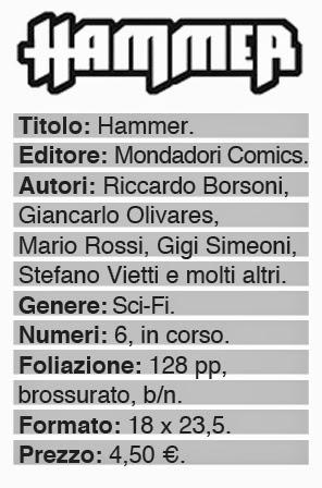mondadori comics hammer recensione dati fumetto