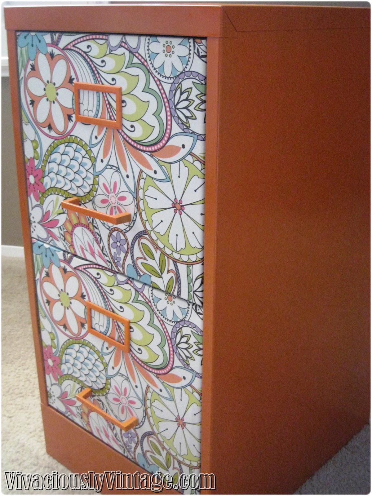 Fun Orange Filing Cabinet For Fall Yu0027all!
