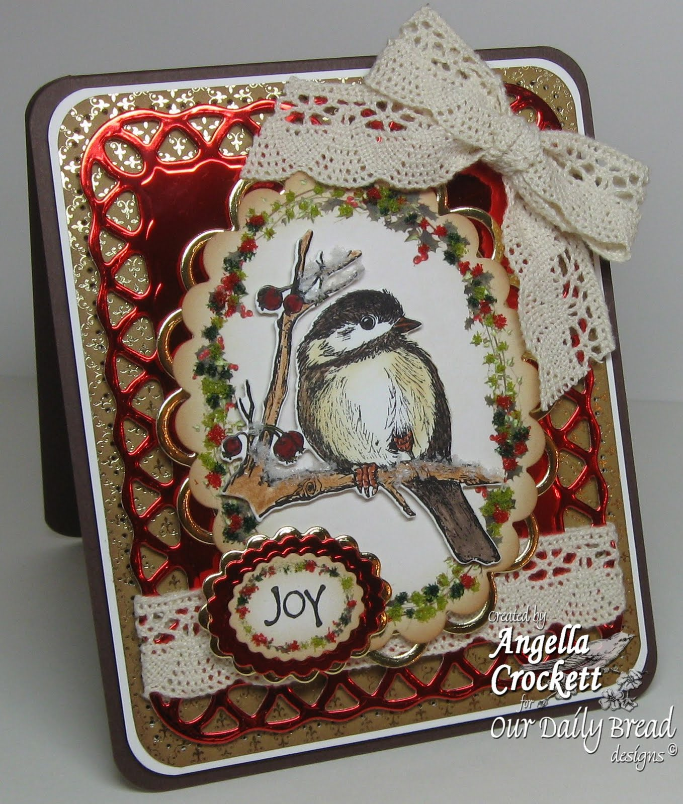 Body Mind Spirit And Stamps Chickadee Joy With Flower Soft