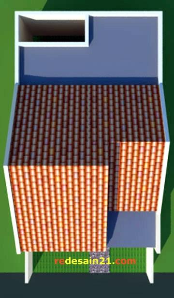 Desain Rumah Type 48 untk luas tanah 72 m2 - model atap