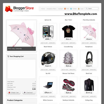 Blogger Store blog template. blogger template for shopping online store blog