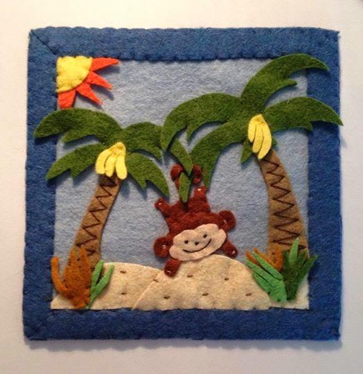 majmos kép filcből gyerekszobába
