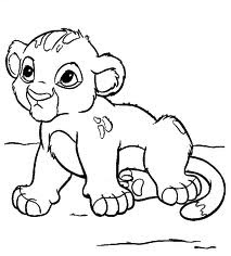Little Simba Coloring pictures
