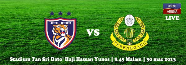 Live Streaming Darul Takzim vs Terengganu 30 Mac 2013