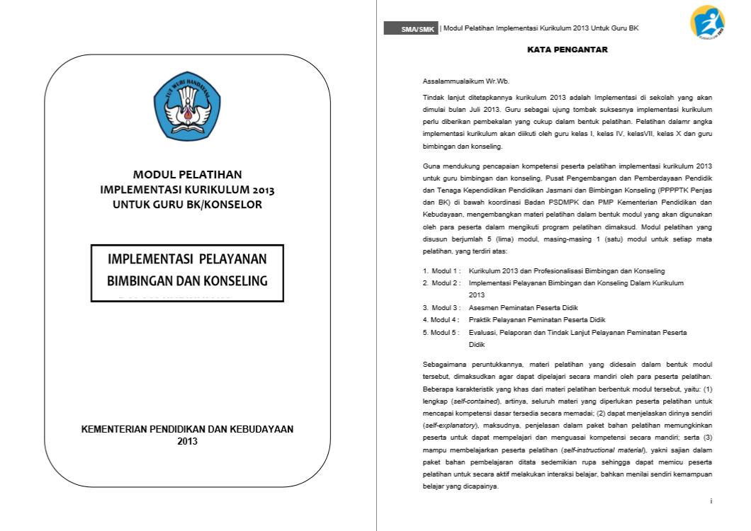 Modul Pelatihan Implementasi Kurikulum 2013 - Implementasi Pelayanan Bimbingan dan Konseling