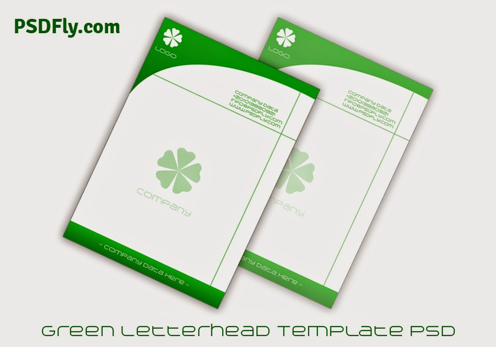 Green letterhead template psd psd fly download free psd files for Stationery templates psd