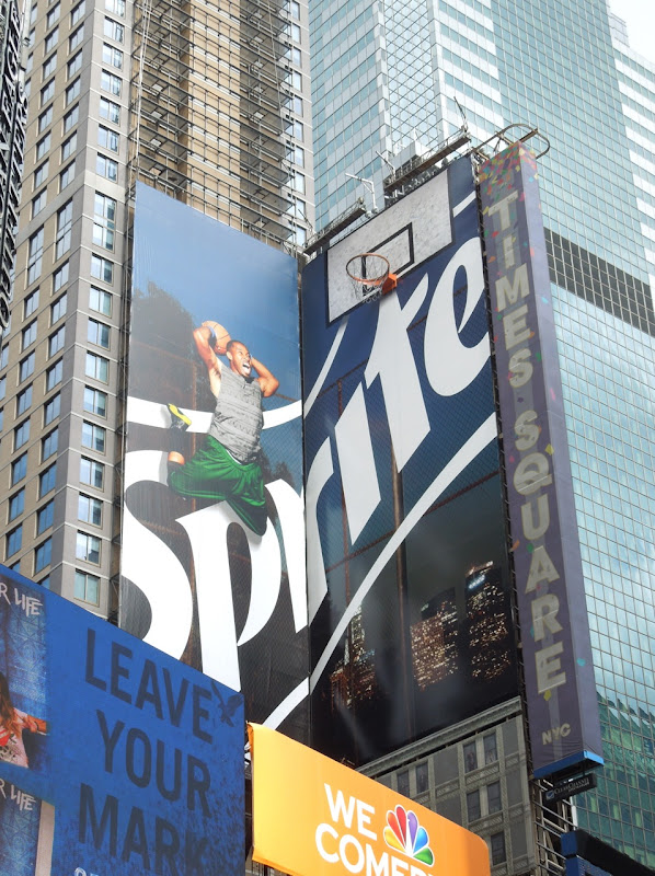 Sprite basketball hoop billboard Times Square NYC