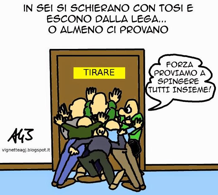 Lega, Tosi, vignetta, satira