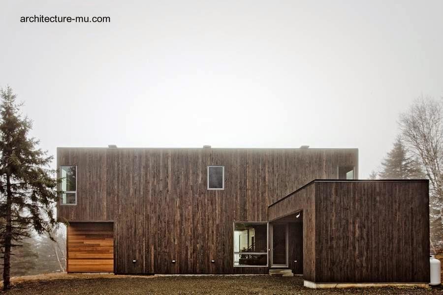 Residencia contemporánea de madera en Canadá