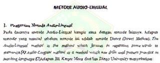 gambar metode audio lingual