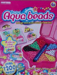 Aqua beads box.