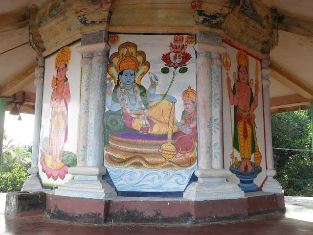 Индия, Гокарна, роспись маленького храма