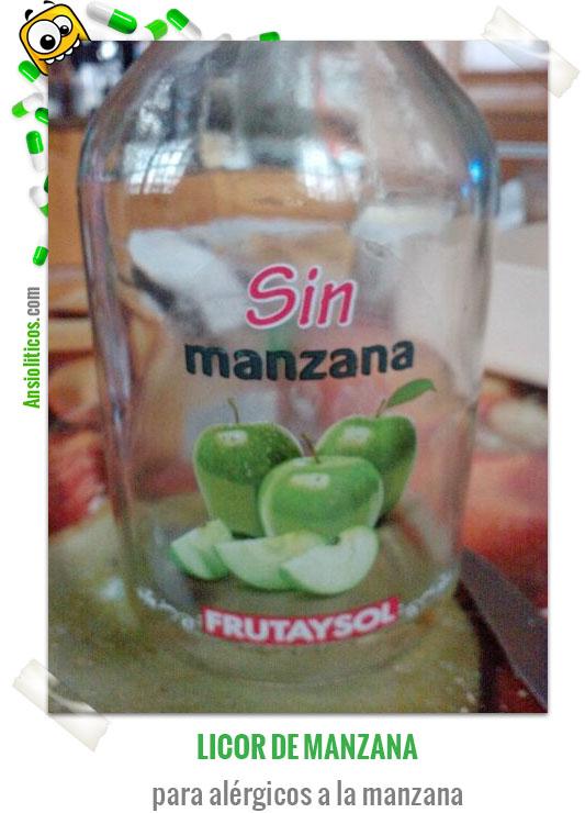 Chiste de Bebidas Licor Sin Manzana