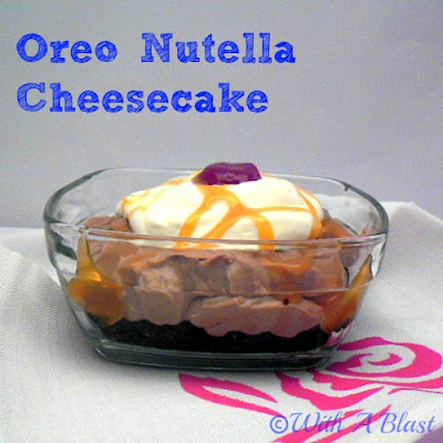 Oreo Nutella Cheesecake   - double delight!  #nobake  #dessert #cheesecake #nutella #oreos via:withablast.blogspot.com